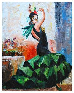 Flamenco 9 Painting by Manuel Garcia