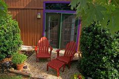 Patio for Chickadee Room at Cedar House Inn and Yurts, Dahlonega, GA