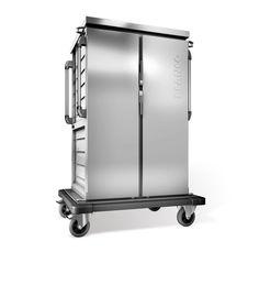 GTARDO.DE:  Tablettwagen für 20 EN-Tabletts, einwandig, 2 Schränke, 2 Flügeltüren, BxTxH 1122x783x1636 mm 2 806,00 €