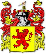 Lee family crest (English). Motto: Strength with virtue.