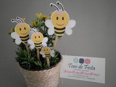 Tons de Festa: Tema abelhinha: enfeite de mesa.