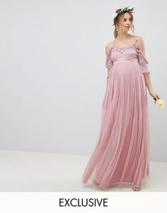 online shopping for Maya Maternity Cold Shoulder Sequin Detail Tulle Maxi Dress With Ruffle Detail from top store. See new offer for Maya Maternity Cold Shoulder Sequin Detail Tulle Maxi Dress With Ruffle Detail Asos Maternity, Maternity Gowns, Maternity Fashion, Pregnancy Fashion, Maternity Pics, Maid Dress, Asos Dress, Going Out Dresses, Latest Dress