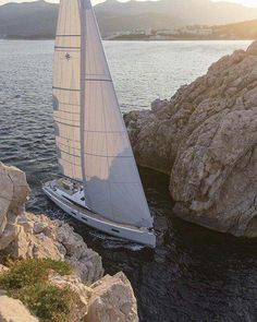 Exclusive luxury trips with sailing Crete island. Yacht Boat, Sailboat Yacht, Yacht Design, Sail Away, Set Sail, Tall Ships, Water Crafts, Sailing Ships, Sailing Boat