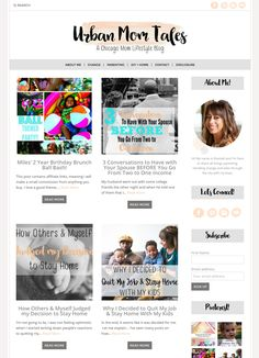 Love this simple and clean blog design running on an Angie Makes Wordpress theme. Super cute!