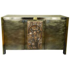 1970s French Sideboard Sculptural Decorative Panel   From a unique collection of antique and modern sideboards at https://www.1stdibs.com/furniture/storage-case-pieces/sideboards/