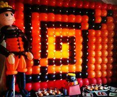 Balloon wall made by Fabulous Faces Entertainment Naruto Birthday, 24th Birthday, Birthday Parties, Naruto Party Ideas, Custom Balloons, Minecraft Party, Balloon Animals, Balloon Wall, Birthday Balloons