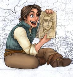 """They got my nose right!"" --- This is adorable. Has no one realized it's signed ""rapunzel xoxo"" tangled Disney And Dreamworks, Disney Pixar, Walt Disney, Disney Characters, Disney Tangled, Disney Magic, Disney Princess, Tangled Flynn, Tangled 2010"