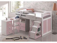 Kids Sweet Dreams Ruby Pink Mid-Sleeper Bed