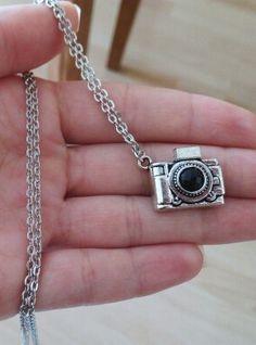 Silver Camera Pendant Chain