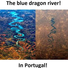 The Blue Dragon River in Portugal Amazing Places On Earth, Beautiful Places To Travel, Wonderful Places, Cool Places To Visit, Places To Go, Interesting Facts About World, Amazing Science Facts, Amazing Facts, Wow Facts
