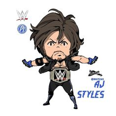 Wwe coloring pages free page site wwe coloring pinterest for Aj styles coloring pages