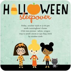 These invites mix spooky and cute! Ideal for your little ones Halloween slumber party.