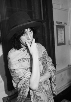 patti smith.  little bit of this fire might live in june.  haven't thought of it before...but now i'm wondering...
