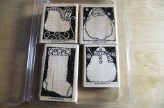 Stampin Up Holiday Woodcuts Santa Sleigh Snowman Stocking   eBay