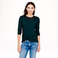 Jeweled-starburst sweater - Pullover - Women's sweaters - J.Crew
