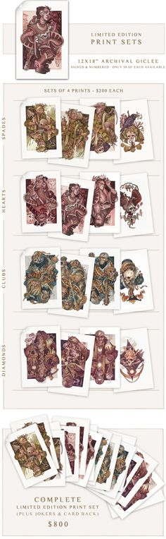 Wicked Kingdom - Illustrated Playing Cards by Wylie Beckert by Wylie Beckert — Kickstarter