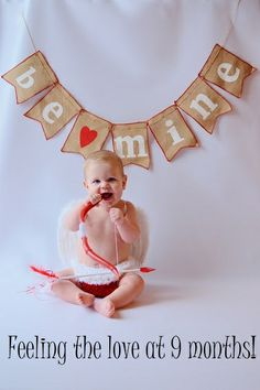 Cupid baby photo shoot for valentine's day