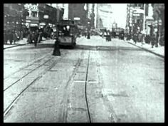 Trolley Ride Through New York City Early 1900s. Down Broadway and Union Square.