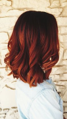 Red with dark roots