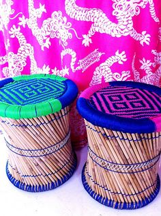 These drum side tables or stools... brilliant!