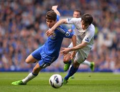 ~ Oscar of Chelsea FC against Leighton Baines of Everton FC both wearing the Adidas Predator Lethal Zones 2 on the final day of the 2012-2013 Barclays Premier League Season ~