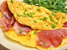 Mediterranes Omelette 'Parma' Eine kleine Zwischenmalzeit mit mediterranem Touch. http://einfach-schnell-gesund-kochen.de/mediterranes-omelette-parma/