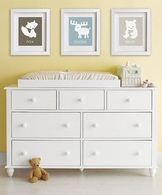 Baby's First Art Print  Moose 8x10  Nursery Decor