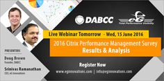 Live Webinar: 2016 Citrix Performance Management Survey | Results & Analysis, Wednesday, 15 June 2016