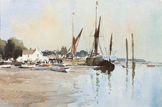 Edward Seago | Sprit-Sail Barges at Pin Mill