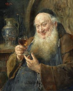 Ernst Nowak - Monk with a Wine Glass