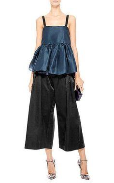 Ellery - Black Wide-Leg Silk Culottes
