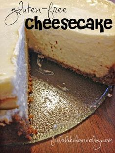Joe and I dated over cheesecake. It's the one dessert he really enjoys, and I often ordered a slice when we went out to dinner and shared it with him.    Now that we're married, I make him order his own.    Today is our wedding anniversary, so I wanted to share our new favorite cheesecake recipe.