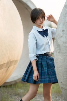 Simply Beautiful, Beautiful Women, Asian Bangs, Teacher Style, Poses, Pretty People, Denim Skirt, Asian Girl, Kawaii