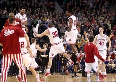 Hoosiers celebrating ,and going to the Sweet16!!!!!