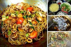 Indonesian Food, Noodles, Spaghetti, Food And Drink, Cooking Recipes, Homemade, Ethnic Recipes, Macaroni, Indonesian Cuisine