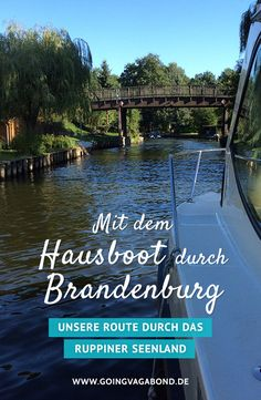 Mit dem Hausboot durch Brandenburg – unsere Route durch das Ruppiner Seenland