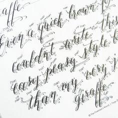 Premium Calligraphy Worksheet Set {Kaitlin Style} | The Postman's Knock