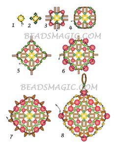 Free pattern for beaded pendant Boho   Beads Magic