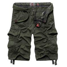 Mens Casual Cotton Fashion Multi-pockets Cargo Short Pants at Banggood
