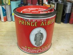 Prince Albert Crimp CUT Tobacco CAN Canister TIN OLD Vintage Antique | eBay