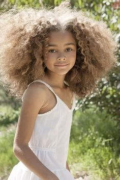 She looks like #Beyonce! What a pretty little girl. Love the tresses! #hair #beauty