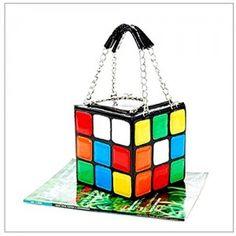 Specifiche: Nome di prodotto: Cube borsa di cuoio da donne, di Rubik Materiale: Cuoio Modello: Cubo di Rubik