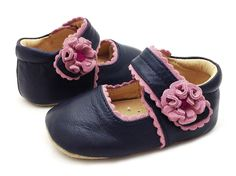 Bluebell navy baby shoe