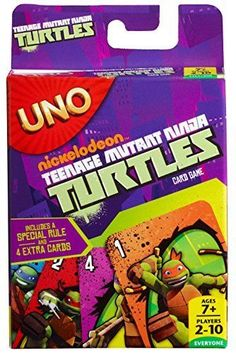 It's the Teenage Mutant Ninja Turtle (TMNT) version of UNO! Playing the special Team Attack Card allows players to vanquish 3 villains from their hand! We specialise in all things TV and Movie related. Teenage Turtles, Tmnt Turtles, Teenage Mutant Ninja Turtles, Uno Card Game, Uno Cards, Card Games, Tmnt Games, Fearsome Foursome, Ninja Turtle Pumpkin