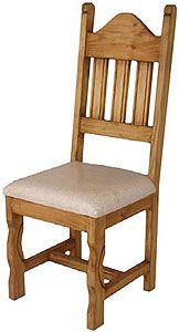 Enjoy the curved seat and carved legs of this affordable rustic chair. Pair these elegant chairs with any of our rustic dining tables for a truly unique and southwestern look. Rustic Pine Furniture, Wooden Living Room Furniture, Rustic Furniture Stores, Unique Furniture, Shabby Chic Furniture, Mexican Furniture, Mexican Chairs, Rustic Dining Chairs, Rustic Chair