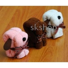 Wash Cloth puppies!  Would be cute in a gift basket