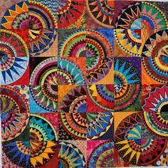 """Salsa"" by Marlene Reasoner  love, love, love, New York Beauty quilts!!!!!"