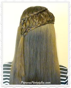 Squiggle knot braid, gorgeous braided hairstyle