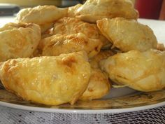 Pierożki kebabowe Dumplings, Enchiladas, Shrimp, Pancakes, Food And Drink, Meat, Chicken, Pierogi, Impreza