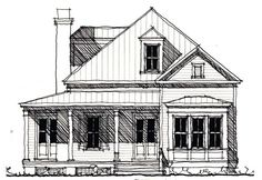 Country Historic Elevation of Plan 73855